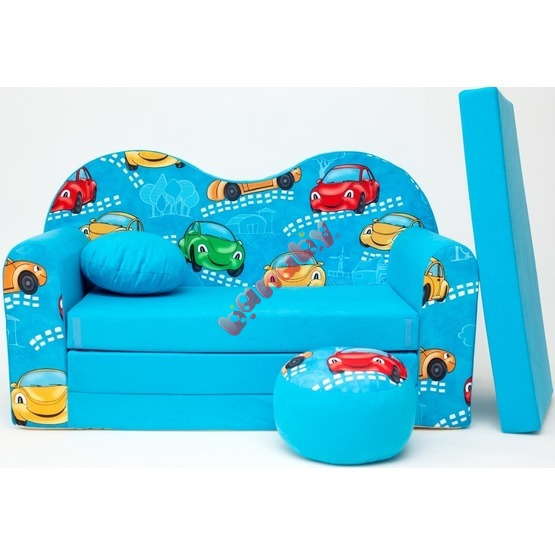 Kindersofa Autos - Blau