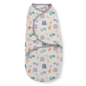 Wickeldeckchen SwaddleMe jungle / grau, Summer Infant