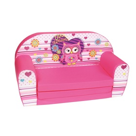 Kinder Sofa Owl - pink, Delta-trade