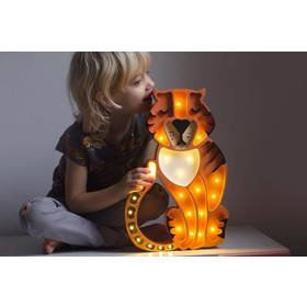 Kinder Holz- Lampe Tiger, Little Lights