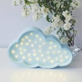 Kinder-Holzleuchte Wolke - blau, Little Lights