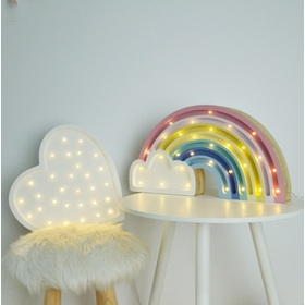 Kinder-Holzleuchte LED REGENBOGEN - pastellfarben, Lights My Love