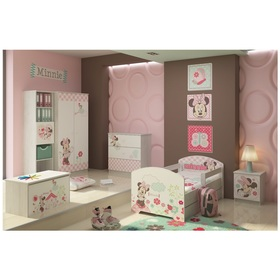 Baby bett se barriere - Minnie Mouse - dekor norwegisch kiefer, BabyBoo, Minnie Mouse