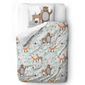Herr. Little Fox Bedding Tierfreunde - Decke 100 x 130 cm Kissen: 60 x 40 cm, Mr. Little Fox