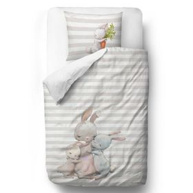 Herr. Little Fox Bedding Forest School - Hasen - 100 x 130 cm + 60 x 40 cm, Mr. Little Fox