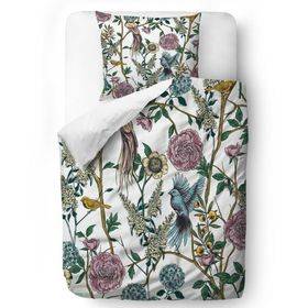 Butter Kings Bedding Flowers - Steppdecke: 135 x 200 cm Kissen: 60 x 50 cm, Butter Kings