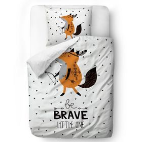 Herr. Little Fox Bedding Brave Fox - Decke: 135 x 200 cm Kissen: 60 x 50 cm, Mr. Little Fox
