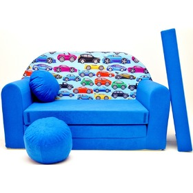 Kindersofa Autos blau