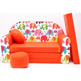 Kindersofa Elephant Orange