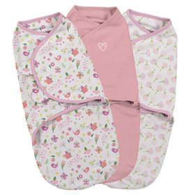 Wrap SwaddleMe - einstellen 3 stück - pink, Summer Infant