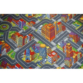 Kinder Teppich BIG CITY - grau, F.H.Kabis