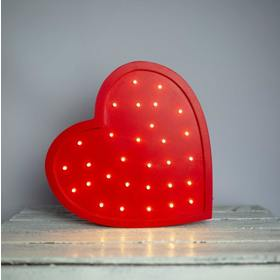 Kinder-Holzleuchte LED HERZ - rot , Lights My Love